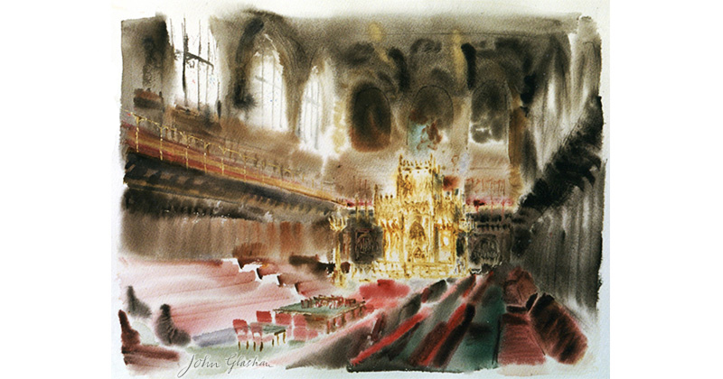 Painting of the House of Lords © John Glashan